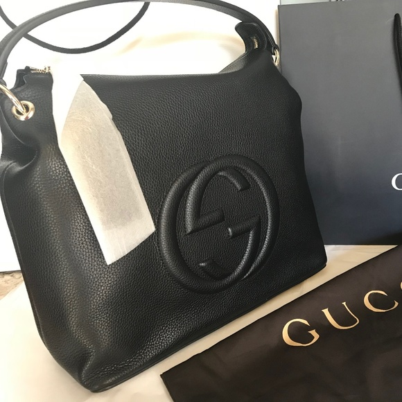 743296e0b74 Gucci Handbags - NEW 100% Authentic GUCCI Black Soho Hobo Leather